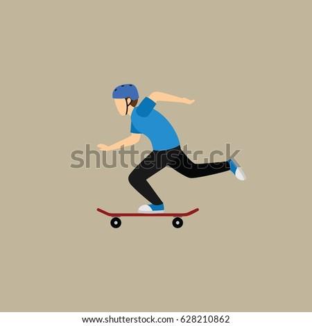 skateboarder design vector.