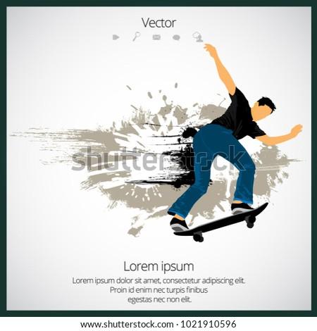 skateboarder jump  sport