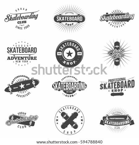 skateboarding  skate shop logo