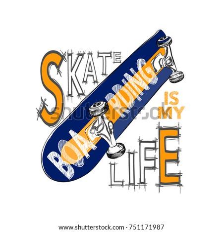 skateboarding t shirt design