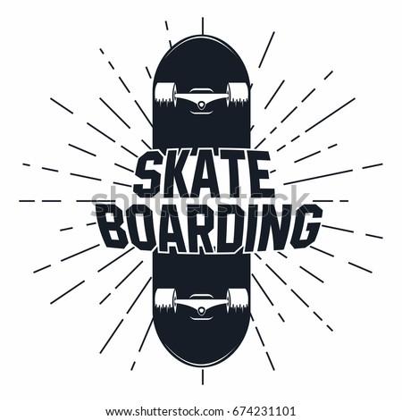 skateboarding t shirt graphic
