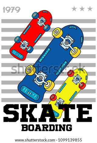skateboarding,t-shirt print design