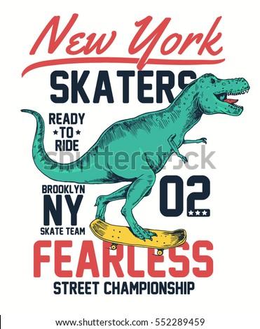 skater dinosaur character