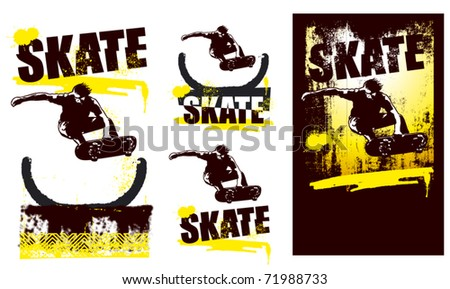 skater jumping with incline