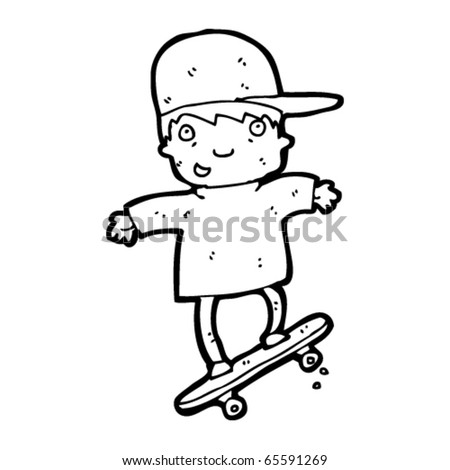 skater kid cartoon