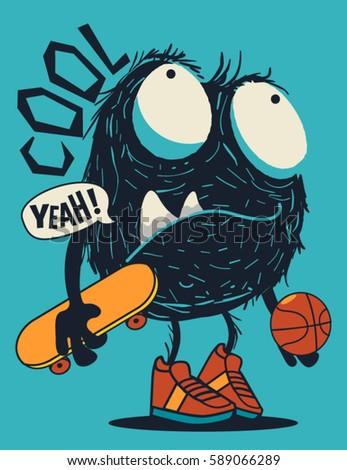 skater monster
