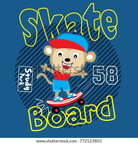 skaterboard animal cartoon