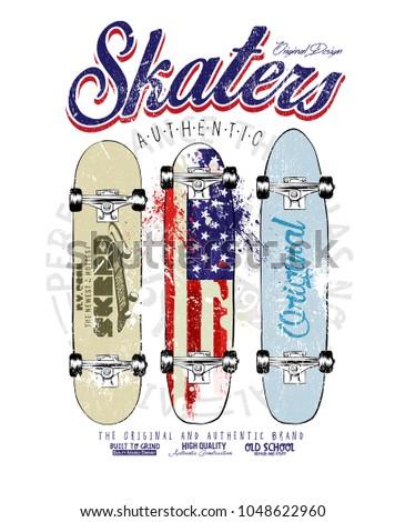 skaters skateborad vector