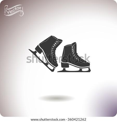 skates icon skates icon vector