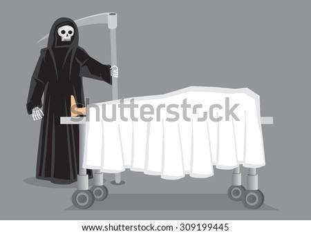 skeletal figure in black hooded