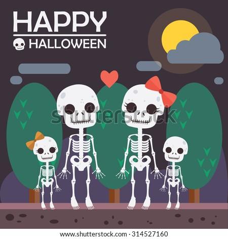 skeleton background for