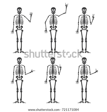 skeleton hand gestures set ok