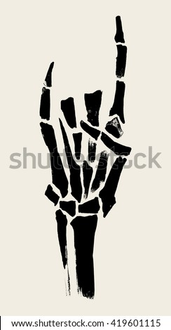 skeleton hands illustration for
