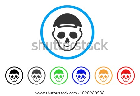 skeleton head rounded icon