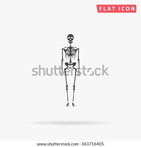 skeleton icon vector skeleton
