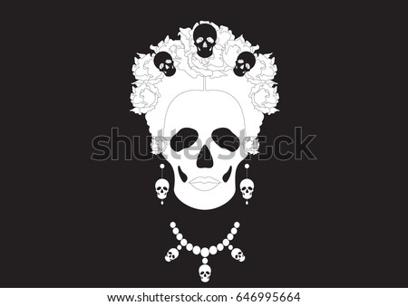 skeleton  portrait of mexican