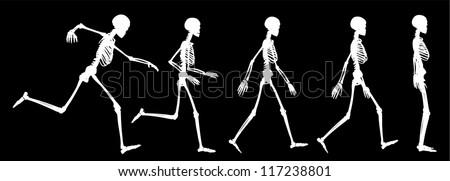 skeleton run silhouette