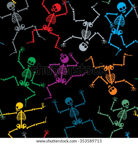 skeletons seamless pattern