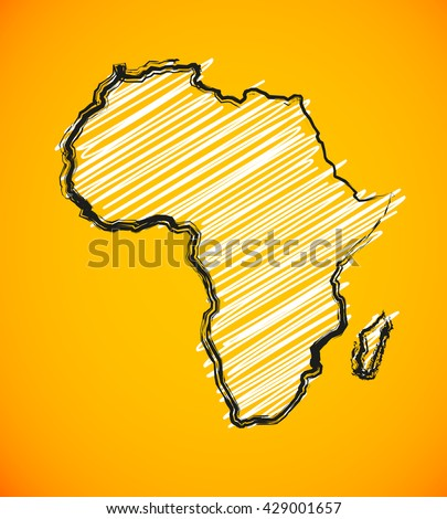 sketch african continent africa