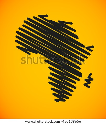 sketch african continent flat