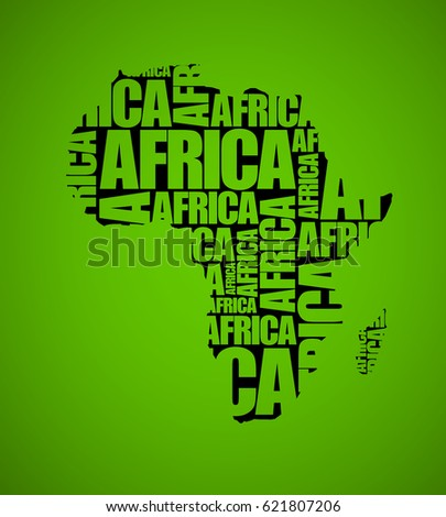 sketch african text continent