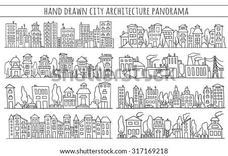 sketch big city architecture