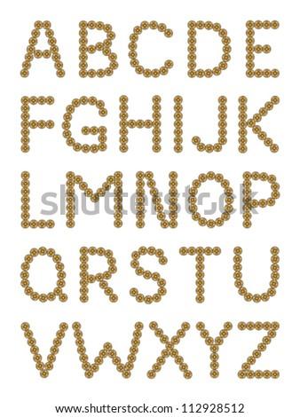 Sketch  button alphabet