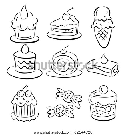 Make elementary sketches of a Making a 3D cake