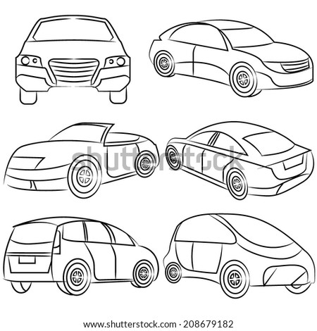 sketch car set