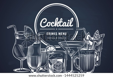sketch cocktail background