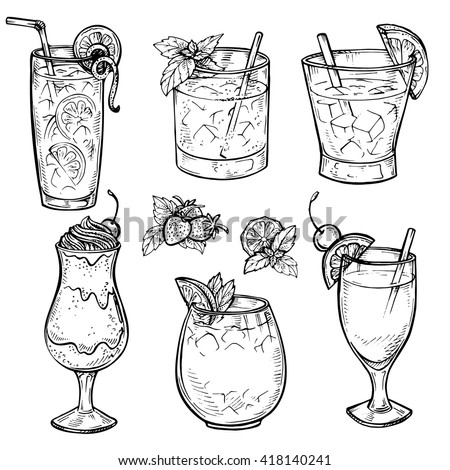 sketch cocktails and alcohol
