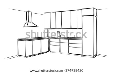 sketch cuisine plan kitchen
