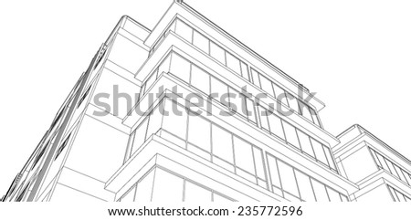 sketch design of building