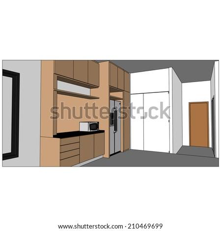 sketch design of interior