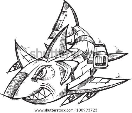 Robot Sketch Drawing Sketch Doodle Robot Cyborg