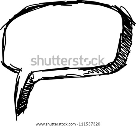 Sketch Doodle Speech Bubble Vector Illustration Art
