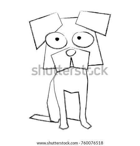 sketch draw funny doggy cartoon