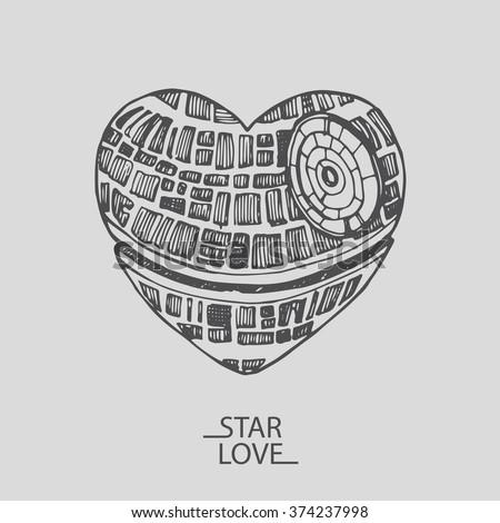 sketch illustration of a love