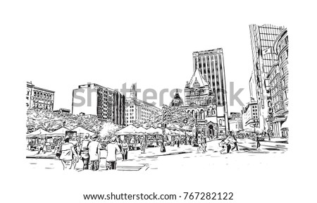 sketch illustration of copley