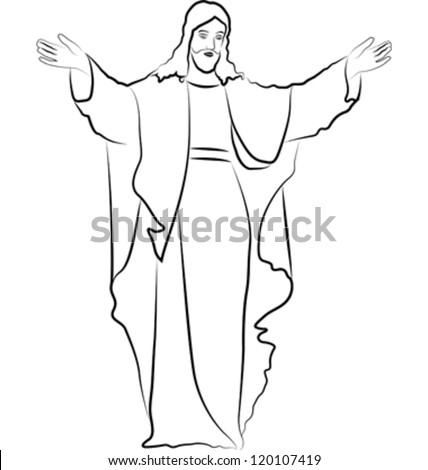 sketch Jesus Christ