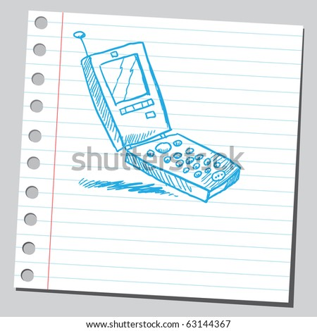 Sketch of a cell phone