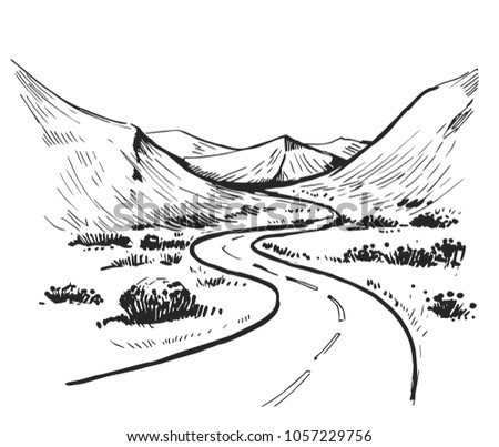 Country Road Vector - Download Free Vector Art, Stock Graphics & Images