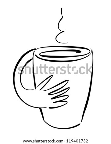 Sketch of a mug with smoke