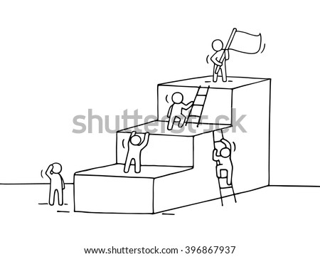 sketch of career ladder with