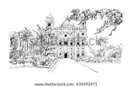 sketch of cityscape in kolkata