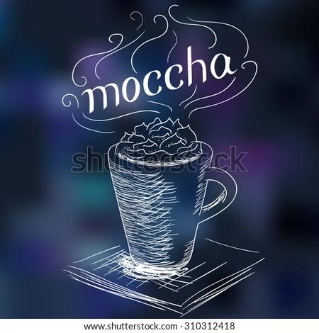 sketch of coffee mocha