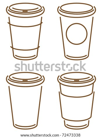 sketch of coffee takeout cups