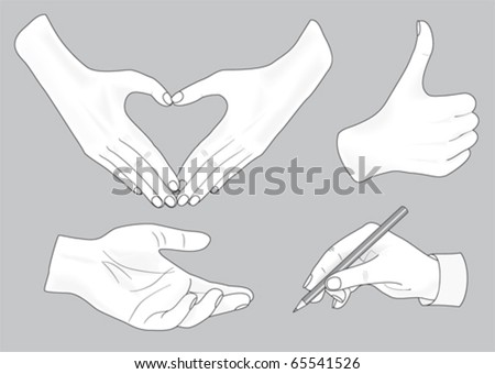 sketch of hands