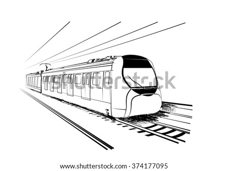 sketch of hong kong train