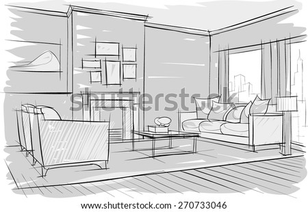 sketch of interior beautiful